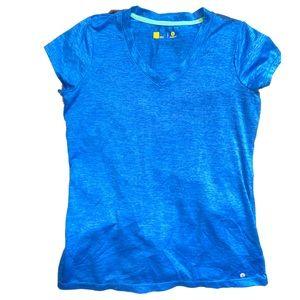 Xersion Royal Blue Activewear V Neck Top